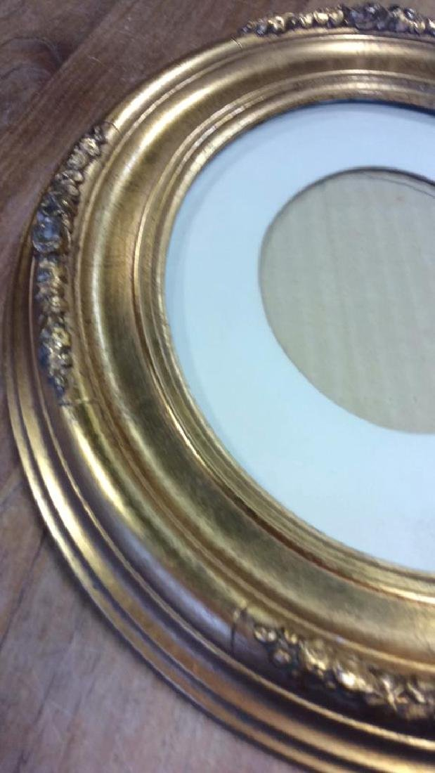 Antique Gold Leafed Oval Frame Carved wood frame with - 2