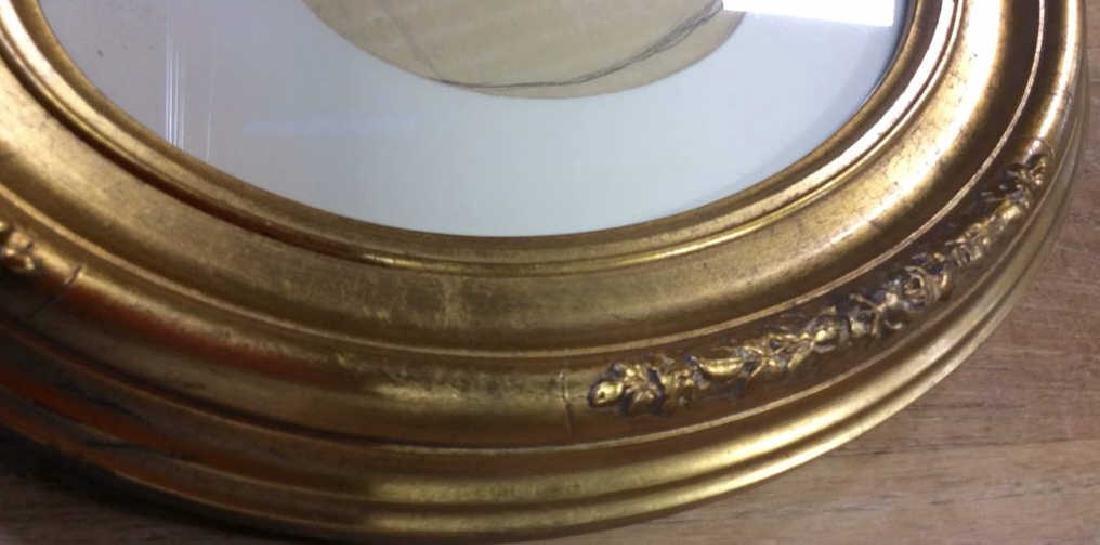 Antique Gold Leafed Oval Frame Carved wood frame with - 4