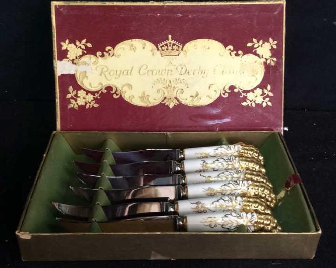 Royal Crown Derby Knife Set w Box Original box with