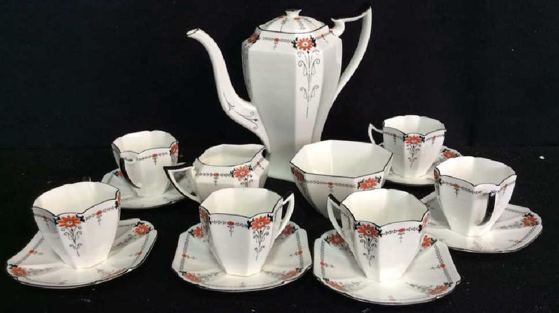 Shelley England Porcelain Coffee Service Set in good