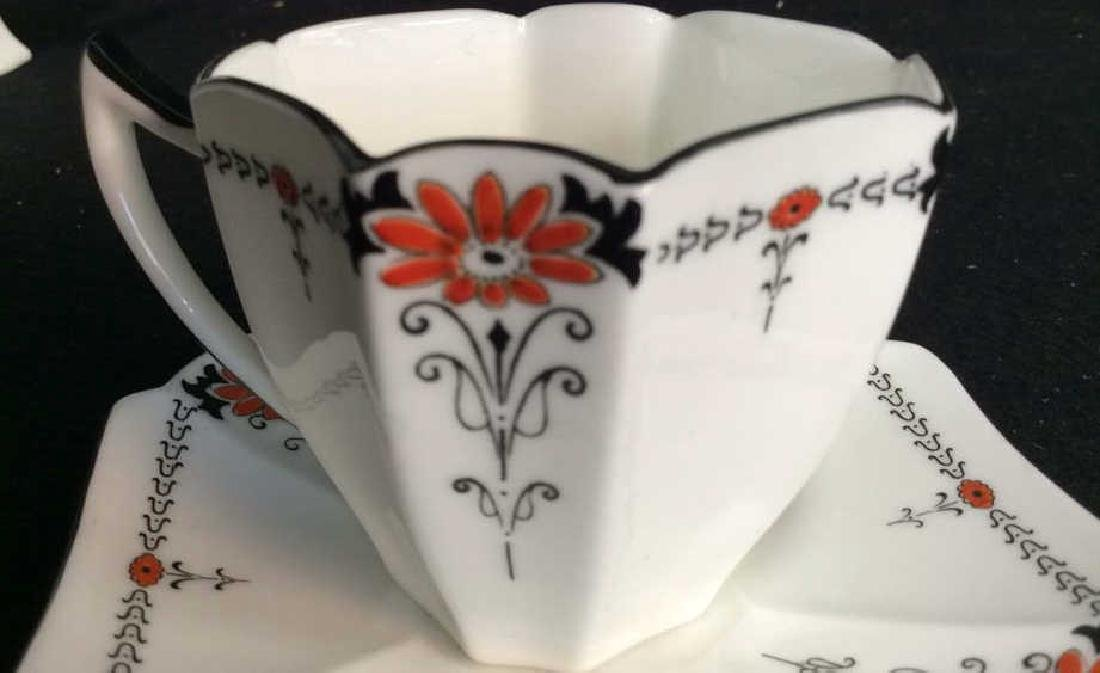 Shelley England Porcelain Coffee Service Set in good - 6