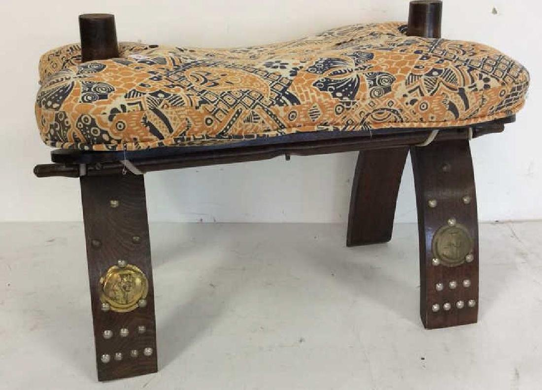 Antique Hand Made Wood and Brass  Bench Hand made hand