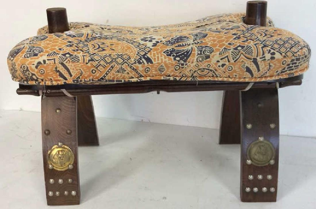 Antique Hand Made Wood and Brass  Bench Hand made hand - 2