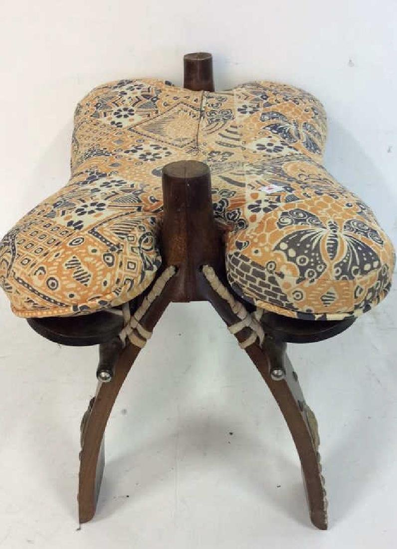 Antique Hand Made Wood and Brass  Bench Hand made hand - 4