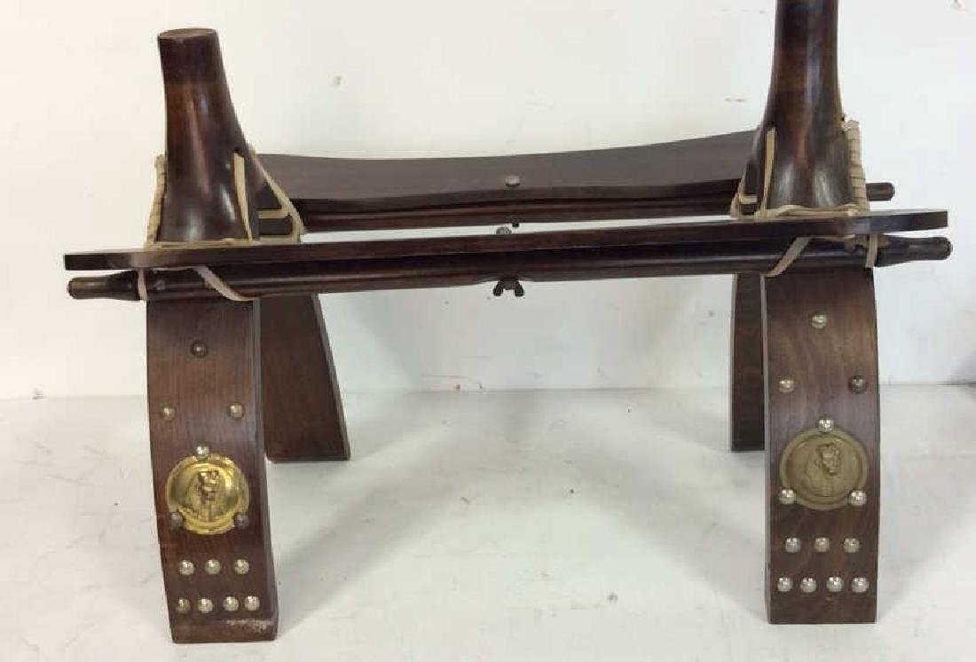 Antique Hand Made Wood and Brass  Bench Hand made hand - 5
