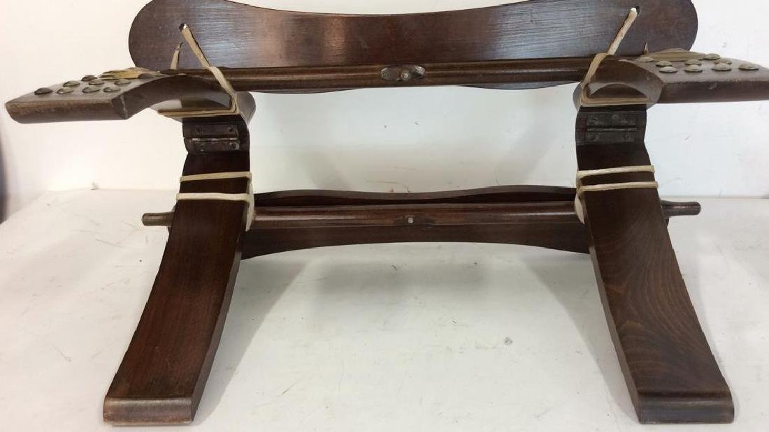 Antique Hand Made Wood and Brass  Bench Hand made hand - 8