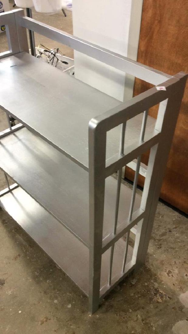 Silver Painted Folding Book Shelf Silver Painted book - 5