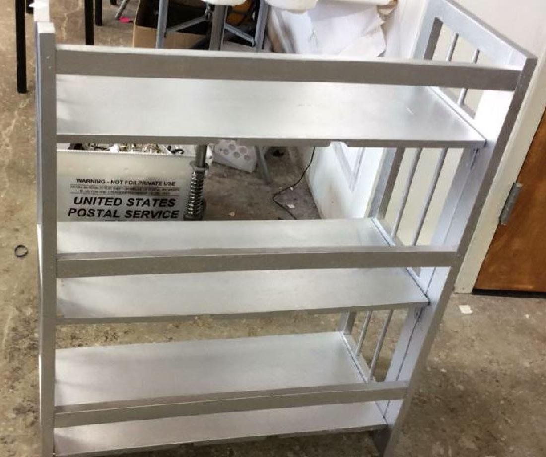Silver Painted Folding Book Shelf Silver Painted book - 6
