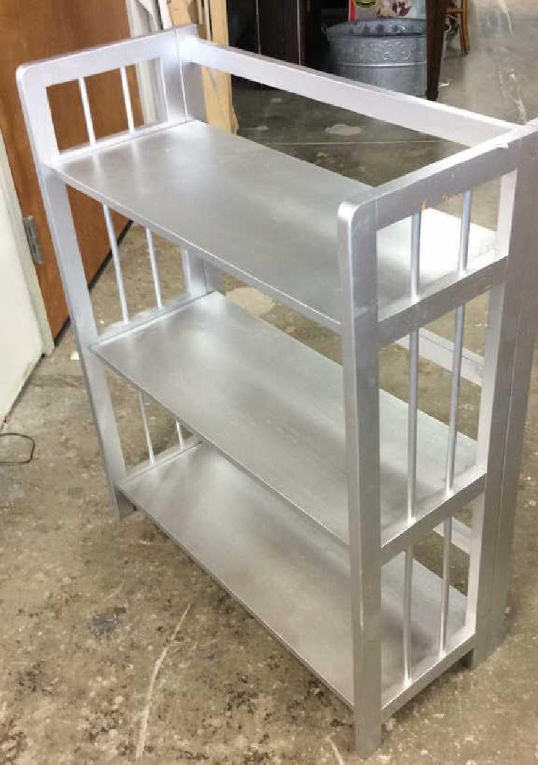 Silver Painted Folding Book Shelf Silver Painted book - 7