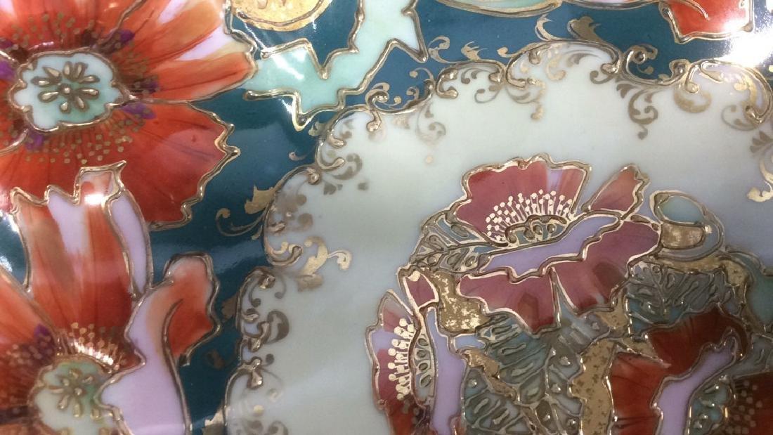 Asian Porcelain Gold Trim Handled Bowl Possibly - 2