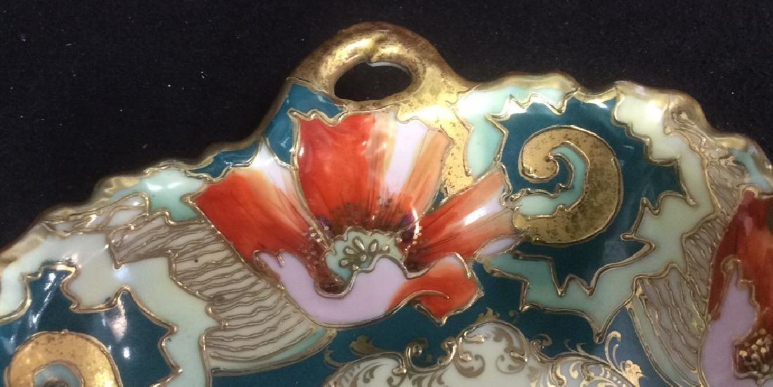Asian Porcelain Gold Trim Handled Bowl Possibly - 3
