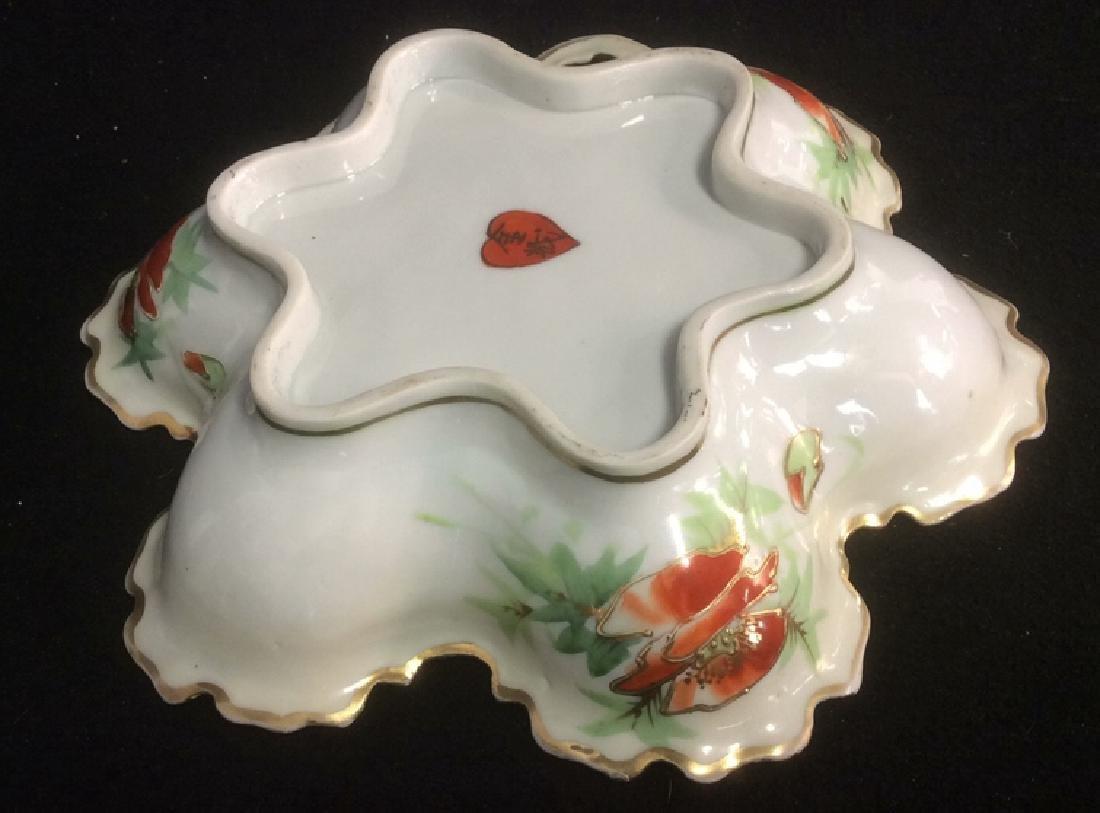 Asian Porcelain Gold Trim Handled Bowl Possibly - 5