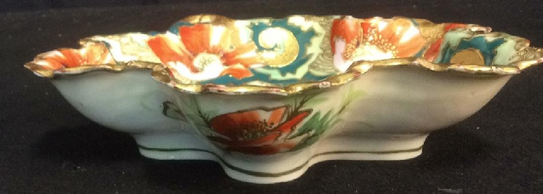 Asian Porcelain Gold Trim Handled Bowl Possibly - 6