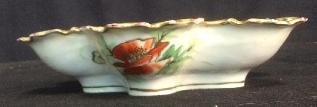 Asian Porcelain Gold Trim Handled Bowl Possibly - 7