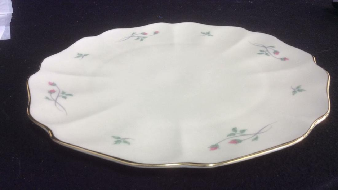 Lenox Cake with Floral Motif and Gold Trim Lenox Rose - 5