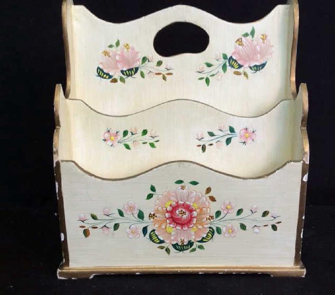 Vintage Peruvian Painted Wood Letter Box Hand painted - 2