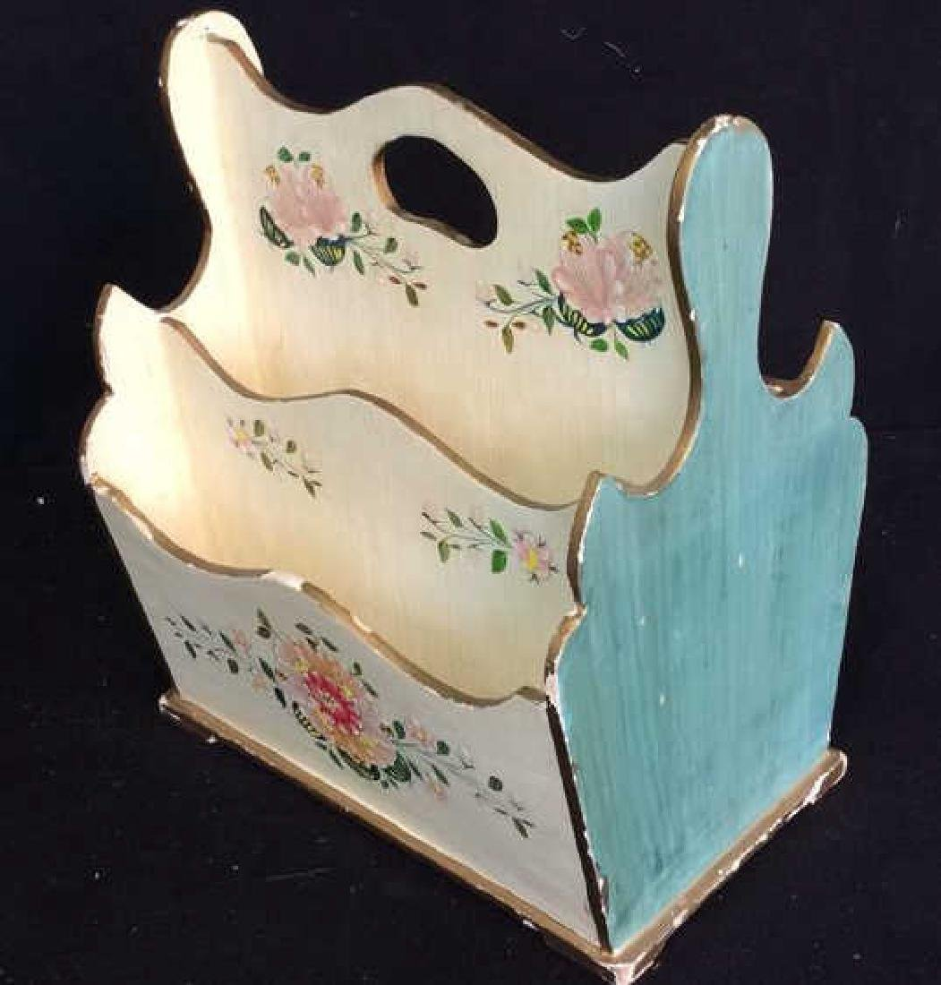 Vintage Peruvian Painted Wood Letter Box Hand painted - 7