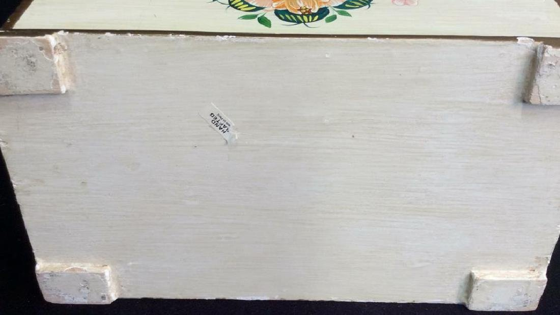Vintage Peruvian Painted Wood Letter Box Hand painted - 8