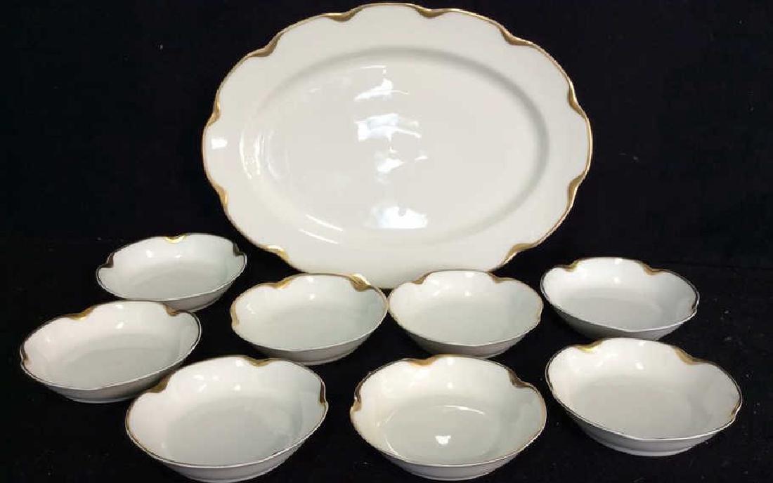 Haviland &Co Gold White Porcelain Dessert Service