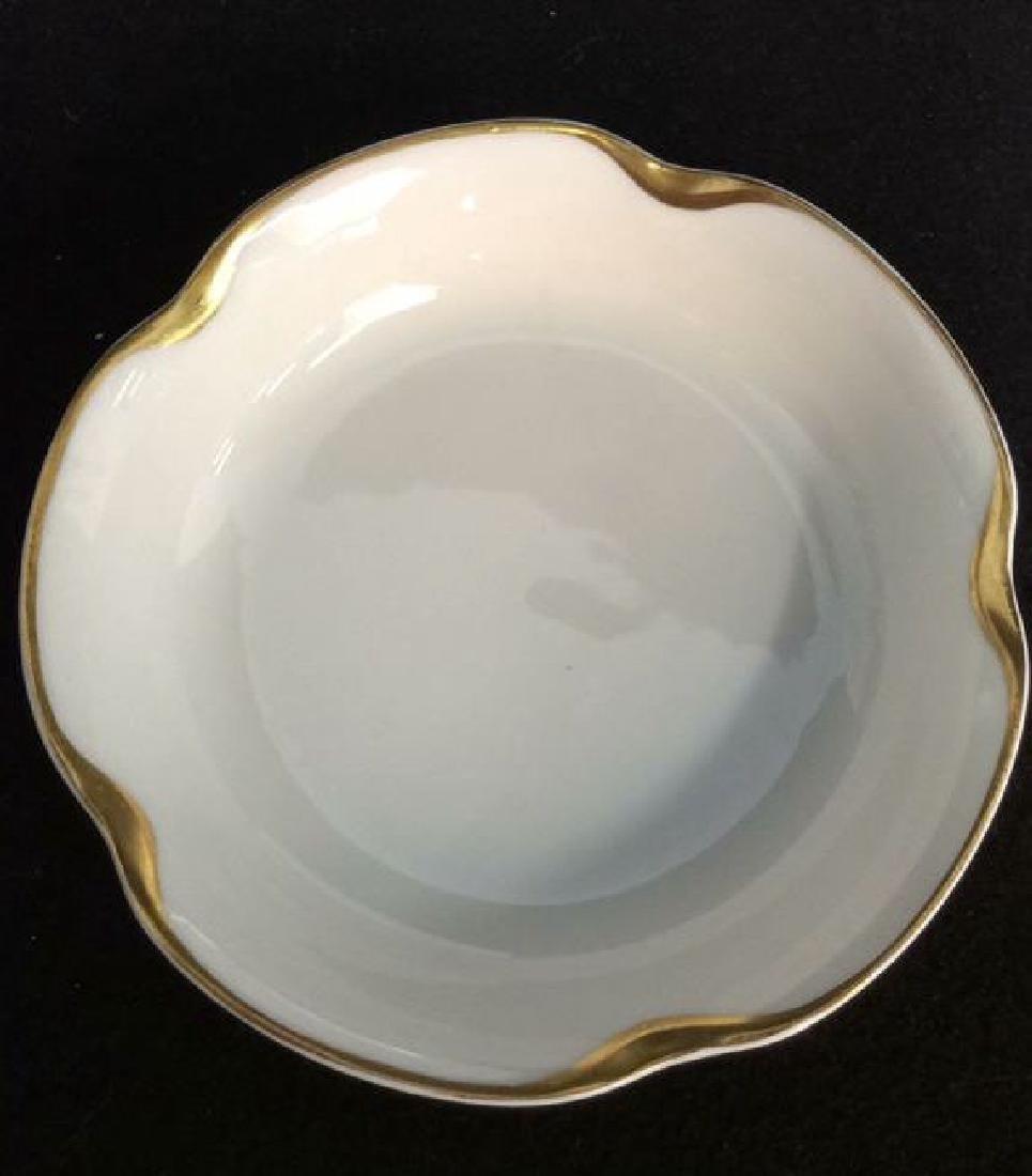 Haviland &Co Gold White Porcelain Dessert Service - 2