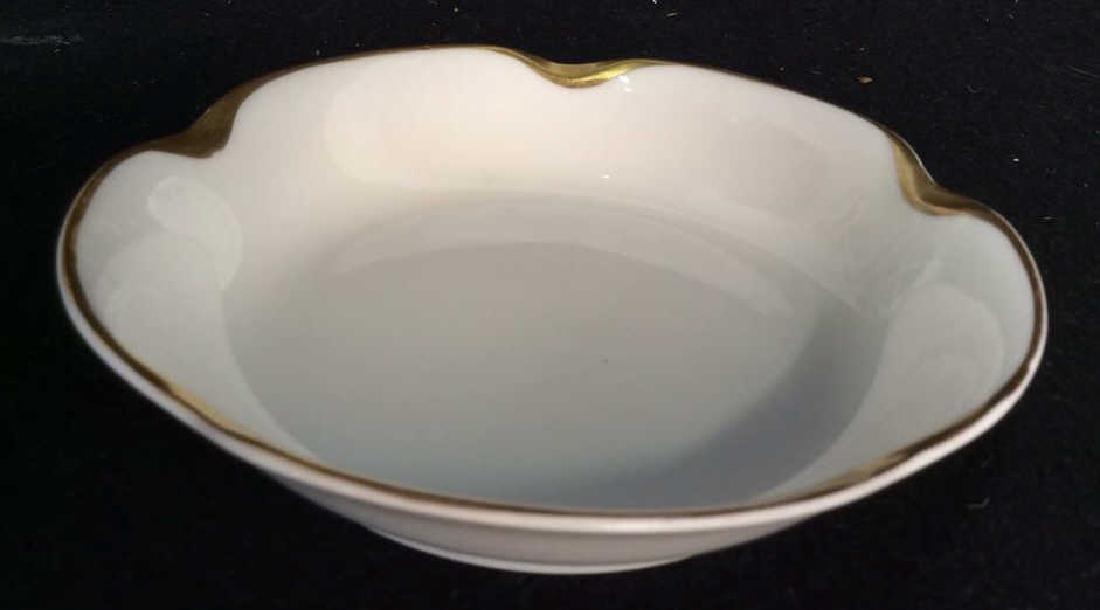 Haviland &Co Gold White Porcelain Dessert Service - 3