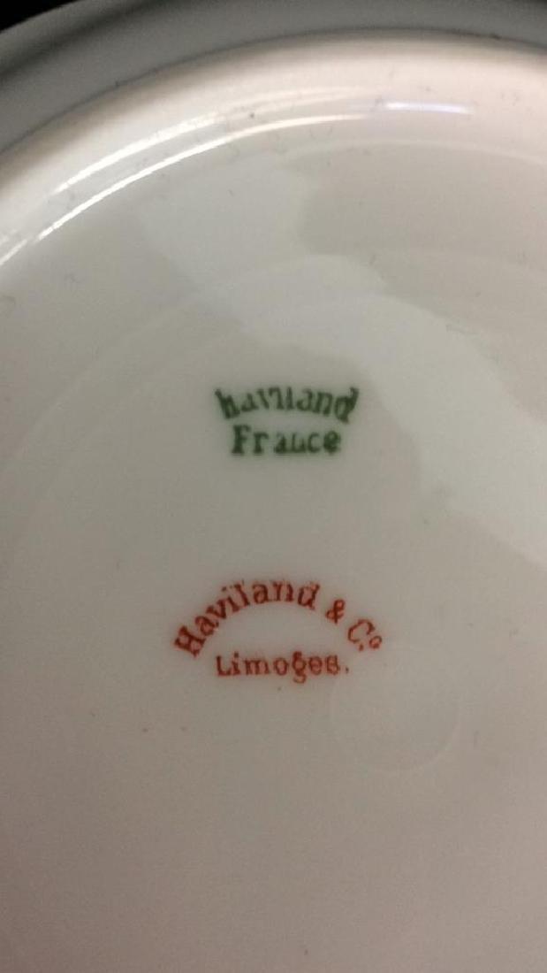 Haviland &Co Gold White Porcelain Dessert Service - 4