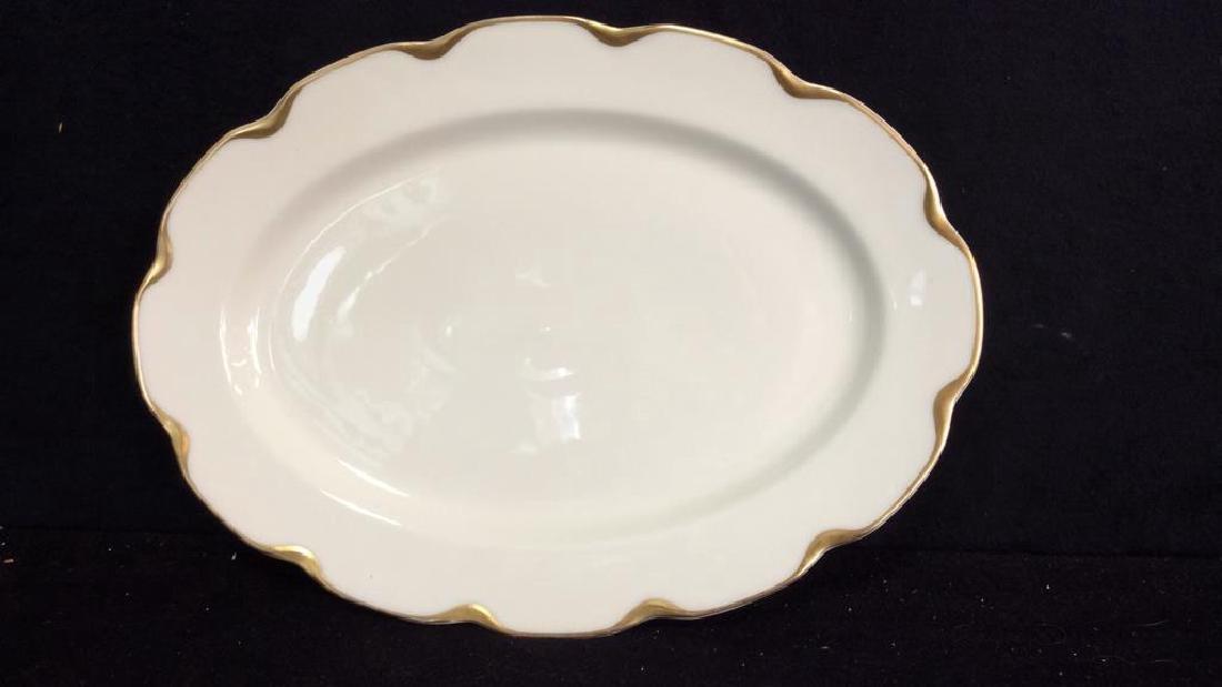 Haviland &Co Gold White Porcelain Dessert Service - 5