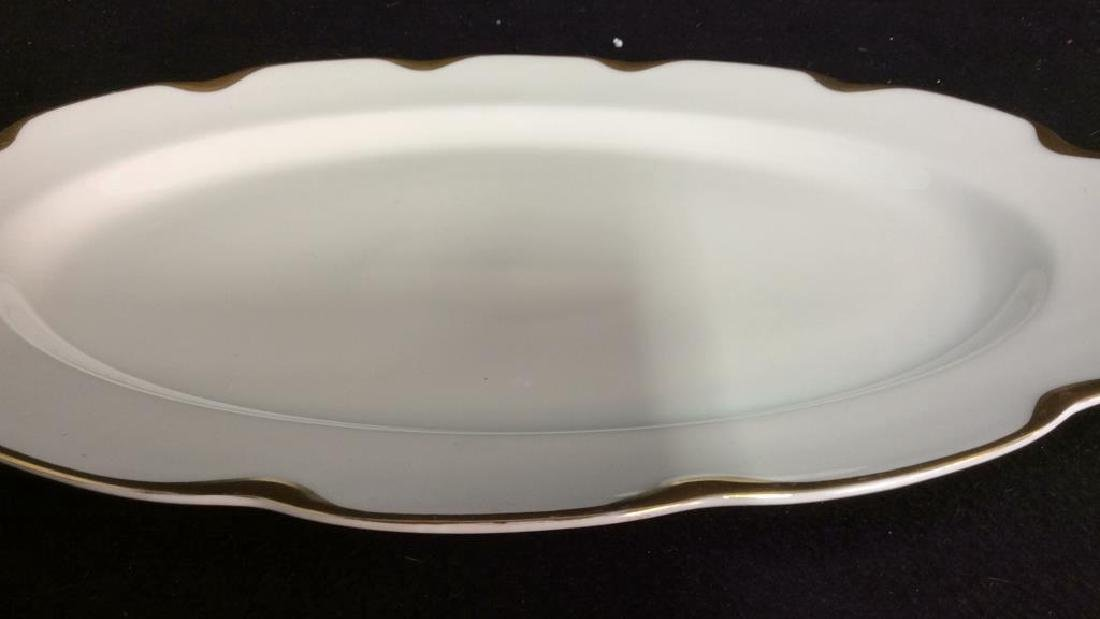 Haviland &Co Gold White Porcelain Dessert Service - 7