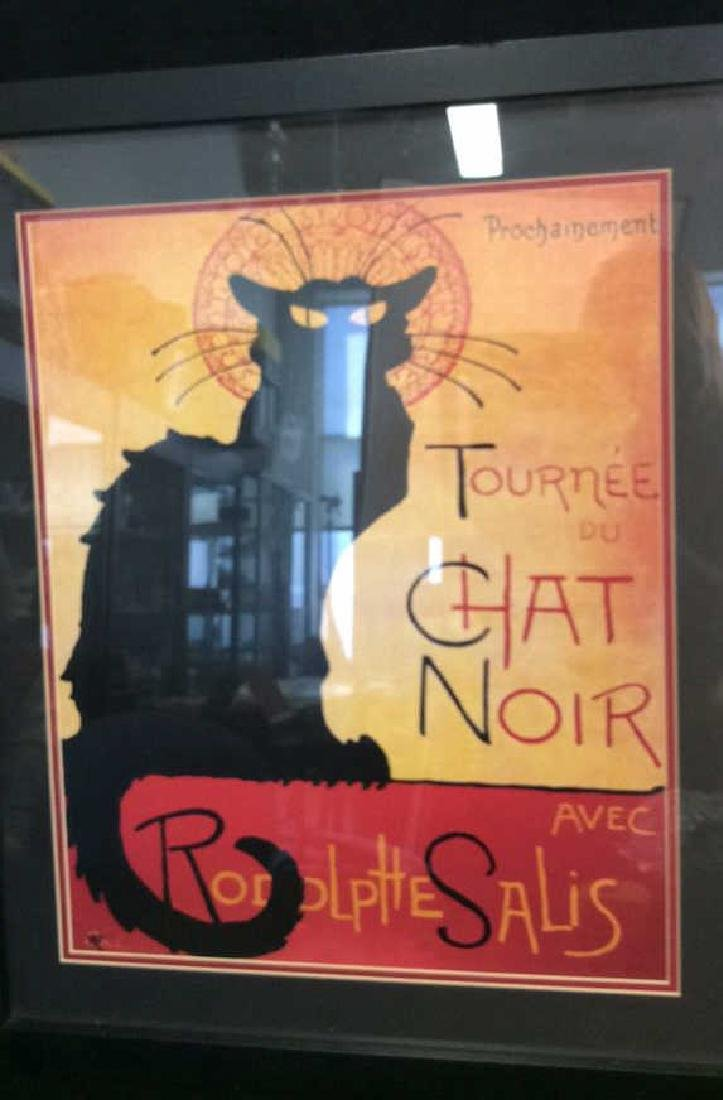 Framed Vintage Chat Noir Poster Colorful and graphic - 2