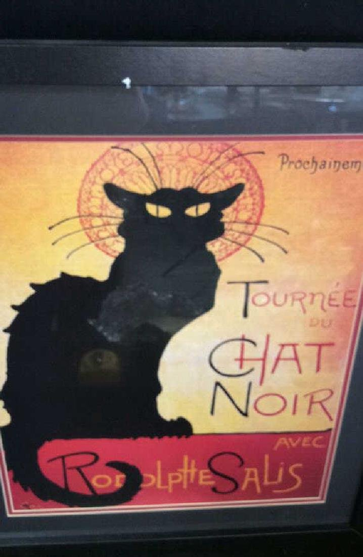 Framed Vintage Chat Noir Poster Colorful and graphic - 3