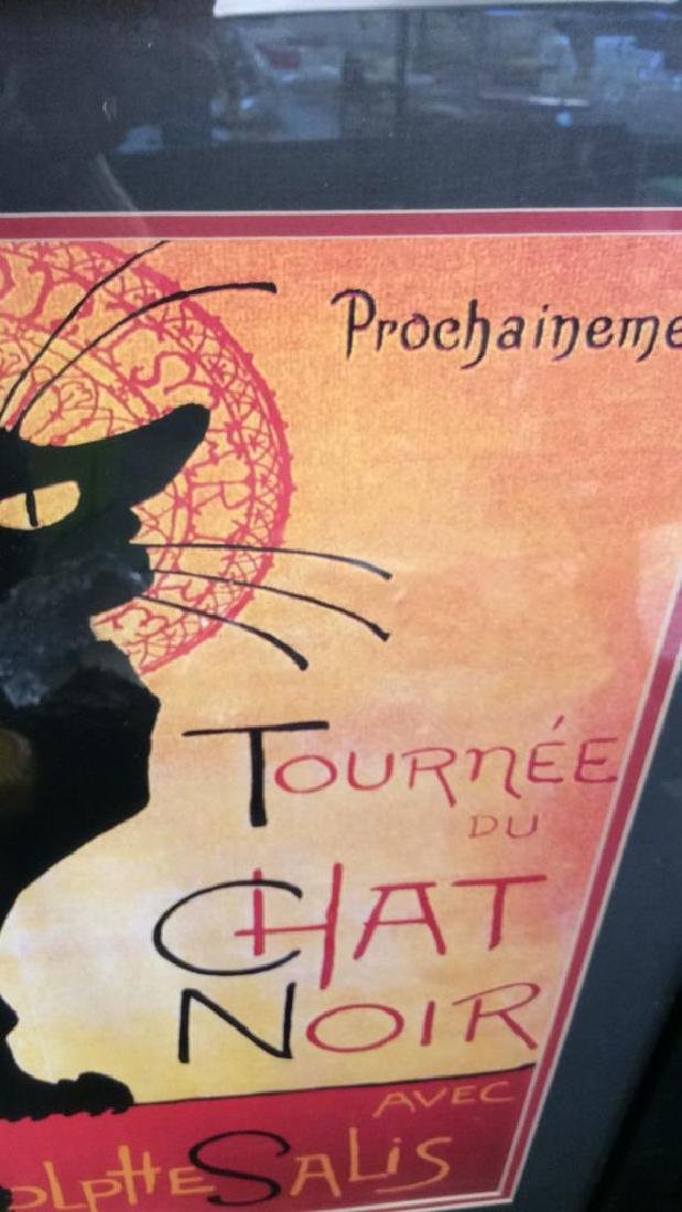 Framed Vintage Chat Noir Poster Colorful and graphic - 5