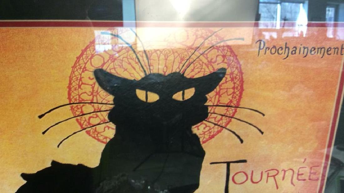 Framed Vintage Chat Noir Poster Colorful and graphic - 7