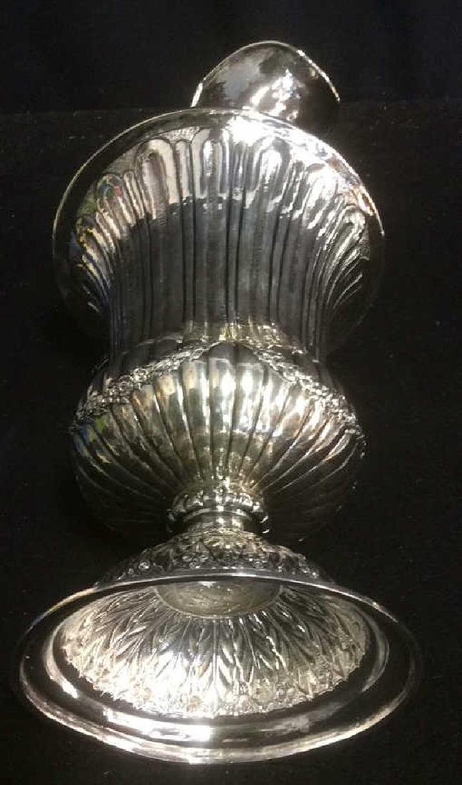 Group Silverplate Footed Tray and Ornate Pitcher Lot of - 7