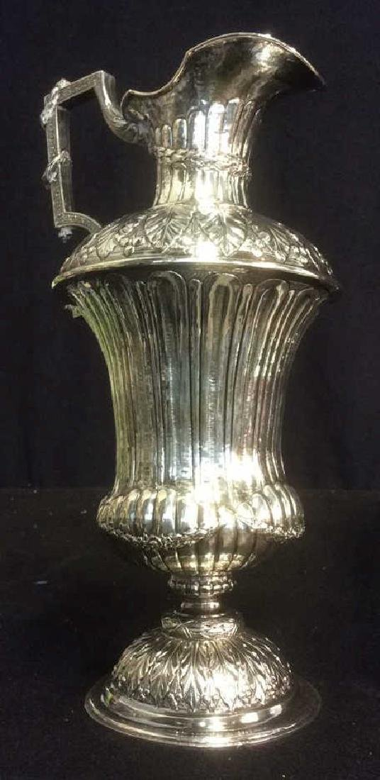Group Silverplate Footed Tray and Ornate Pitcher Lot of - 8