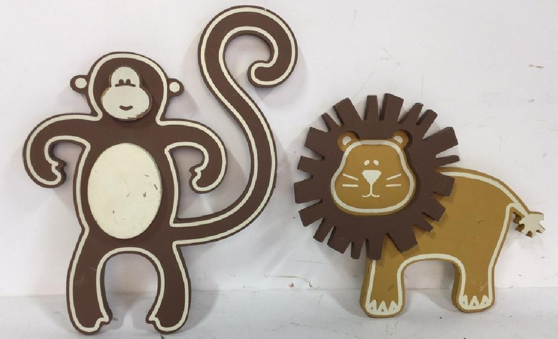 Wooden Animal Wall Decor Vintage whimsical carved