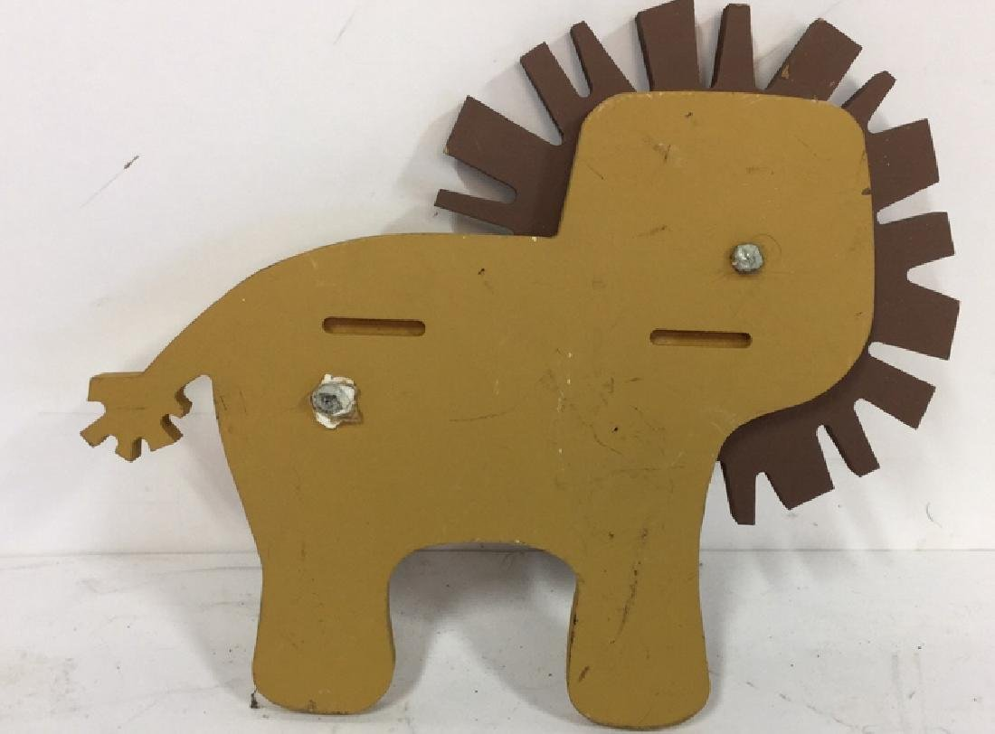 Wooden Animal Wall Decor Vintage whimsical carved - 7