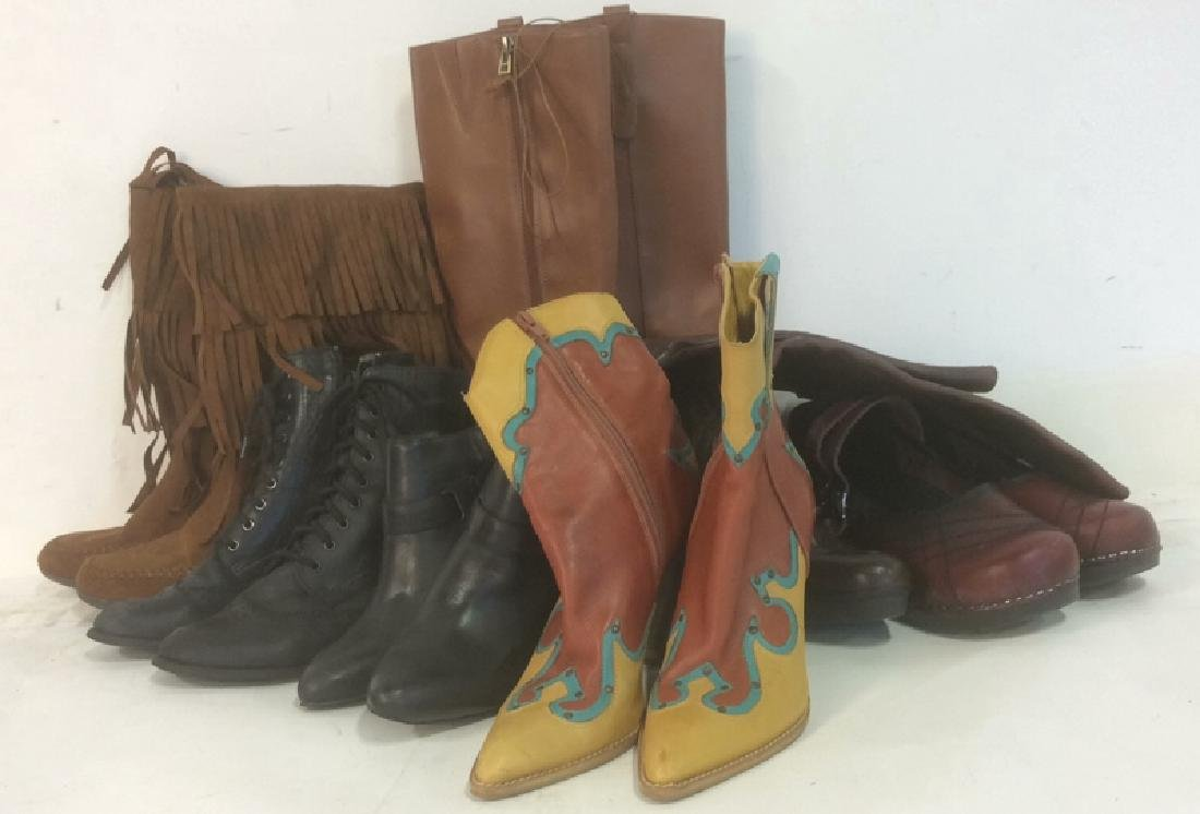 Group of Women's Boots Shoes Lot of 7 pair Women's
