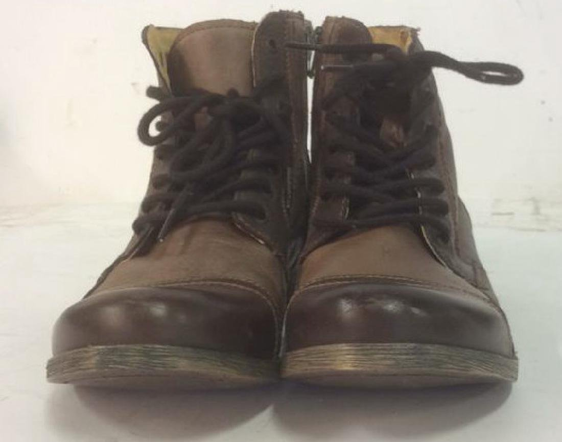 Group Men's Leather Boots Lot of 2 pair Men's Leather - 4
