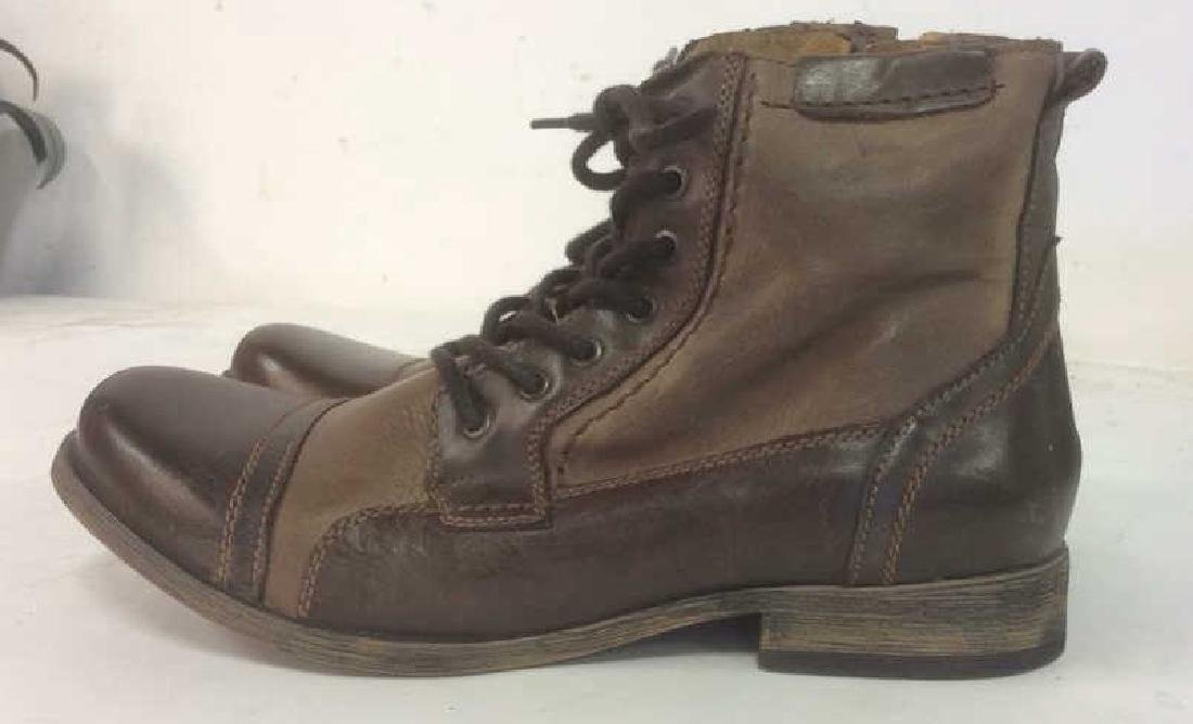 Group Men's Leather Boots Lot of 2 pair Men's Leather - 5