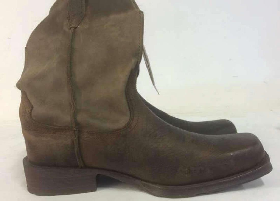 Group Men's Leather Boots Lot of 2 pair Men's Leather - 8