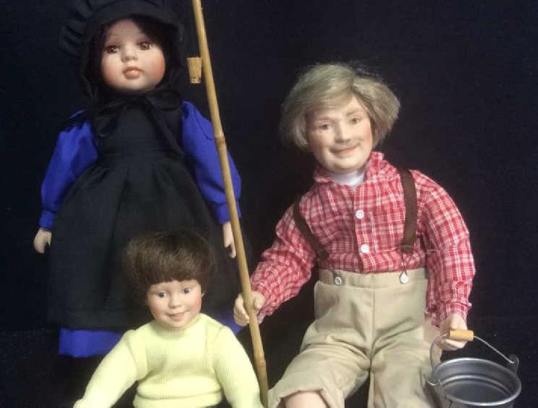 Group Lot Porcelain Country Dolls Lot of 3 porcelain - 2