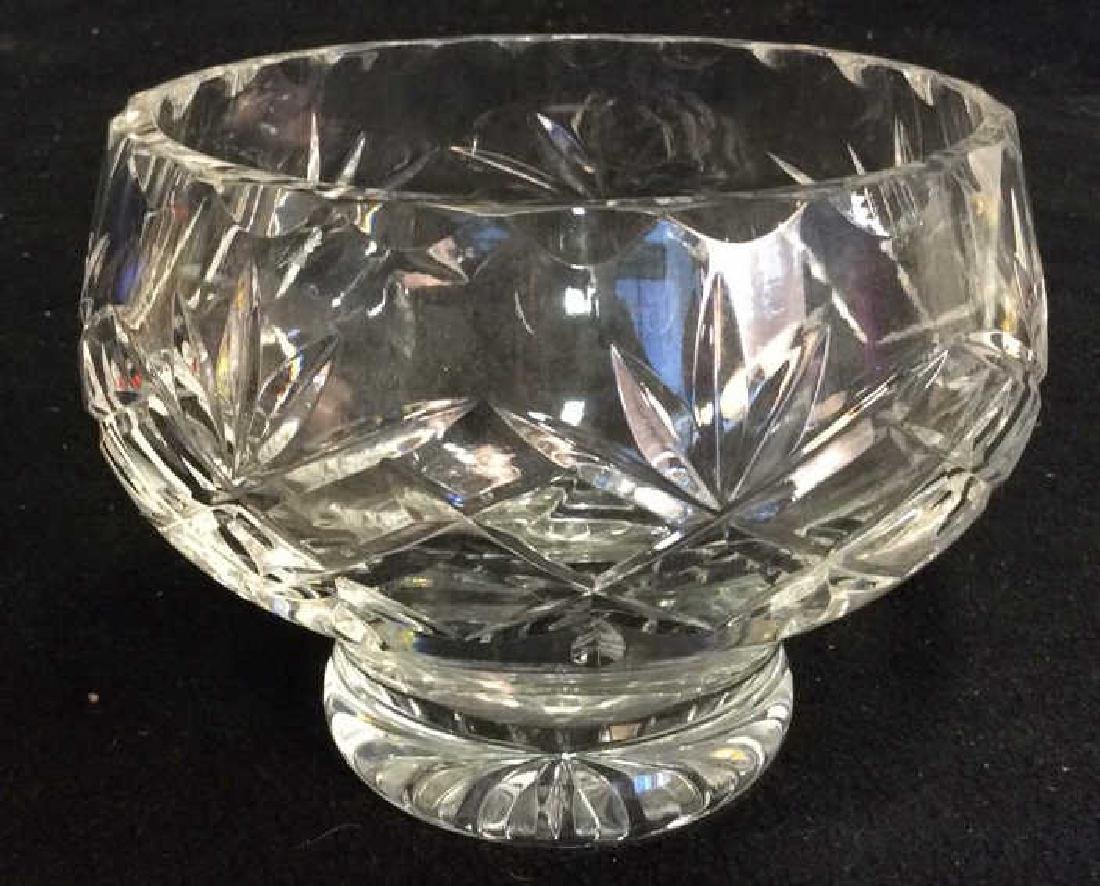 Cut Crystal Bowl and Pitcher Heavy Crystal footed bowl - 2