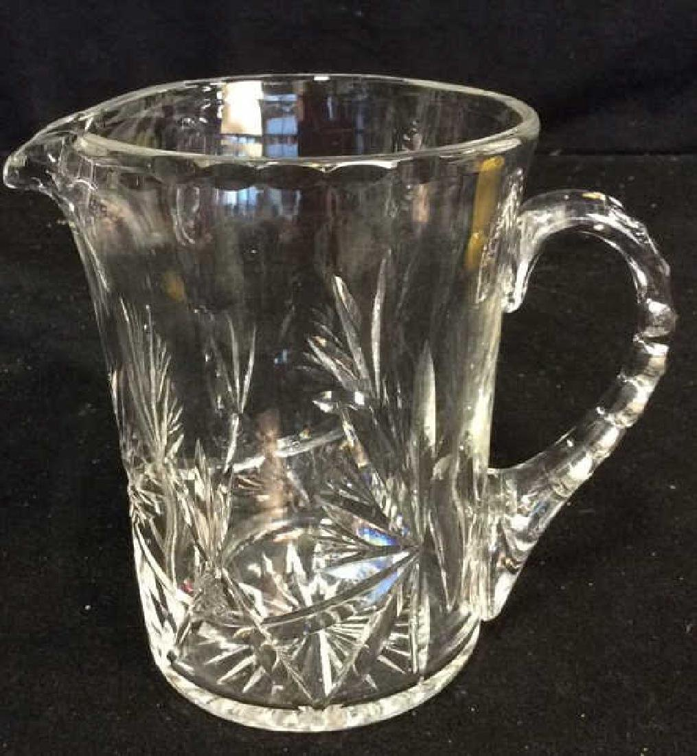 Cut Crystal Bowl and Pitcher Heavy Crystal footed bowl - 5