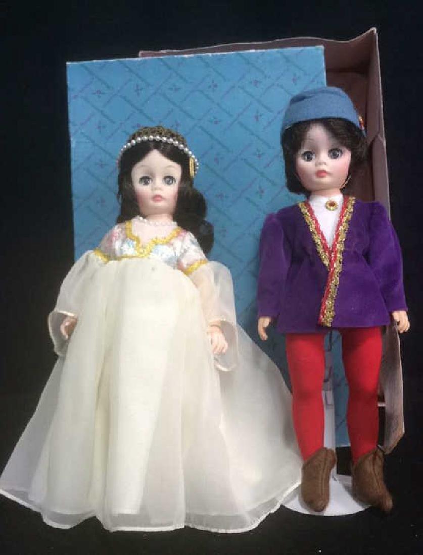 Pair Porcelain Romeo and Juliet Dolls Pair of porcelain