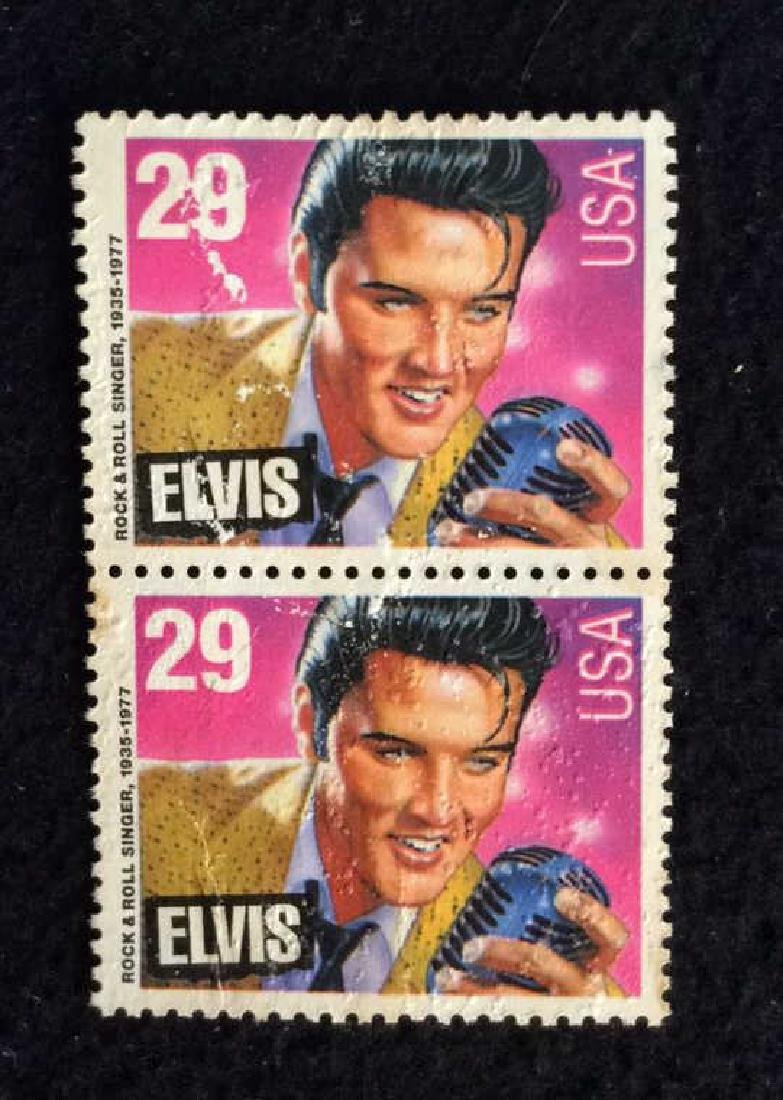 Vintage Pair Elvis Stamps 29cts 29 cent vintage Elvis