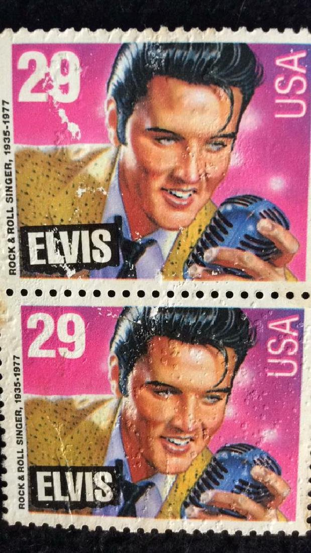 Vintage Pair Elvis Stamps 29cts 29 cent vintage Elvis - 2