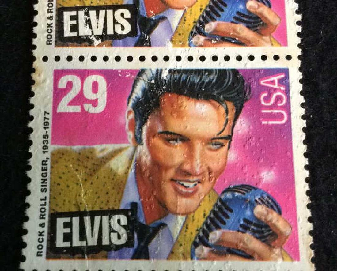 Vintage Pair Elvis Stamps 29cts 29 cent vintage Elvis - 3
