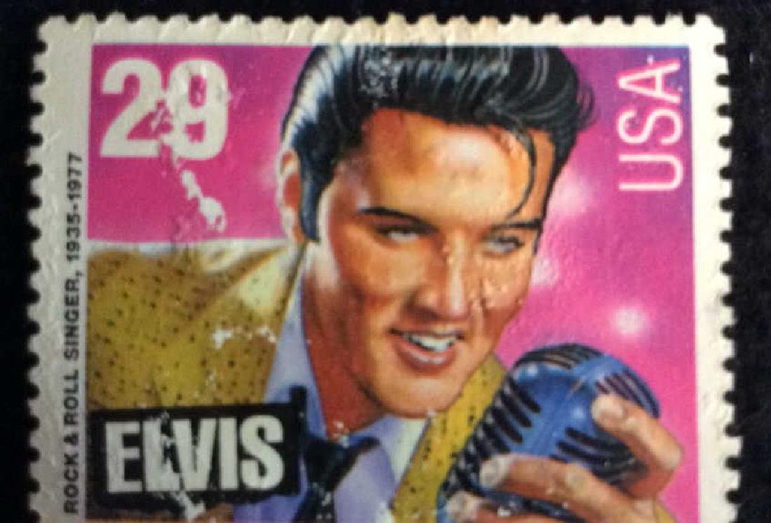 Vintage Pair Elvis Stamps 29cts 29 cent vintage Elvis - 4