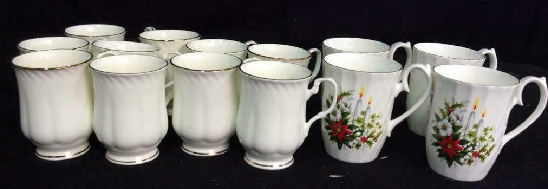 Group Staffordshire 14 Porcelain Mugs England One set
