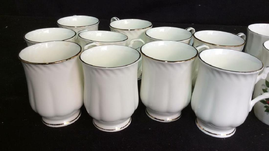 Group Staffordshire 14 Porcelain Mugs England One set - 2